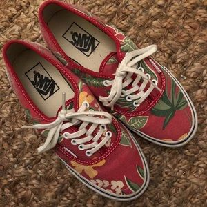 Vans Slim Authentic | 'Red Hawaiian' Print